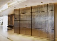 Banker Wire formed mesh wall tiles for the IBI Group.