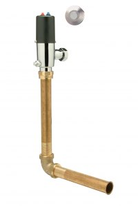The new Zurn ZP6800 Piezo Activated Flushometer for Penal Fixtures