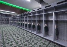 The locker room measures 5,000 square feet.