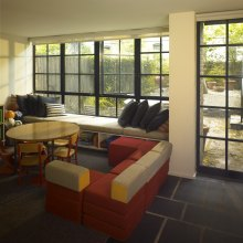 Interior of NYC private residence with Hope's® Landmark175™ steel windows (PHOTO CREDIT: IMG_INK)