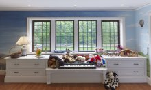 Interior of residence in Winchester MA with Hope's® Landmark175™ Series steel windows (PHOTO: IMG_INK)