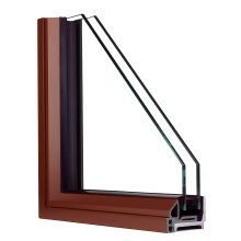 Profile of Hope's® Landmark175™ Series fixed solid steel window with patented Thermal Evolution™ technology