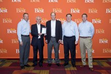 From L to R: Do it Best Corp. President and CEO Bob Taylor, Metal Sales National Accounts Manager Gary Davidson, Metal Sales President Jim Waldron, Do it Best Corp. Commodity Divisional Manager Joe Corah and Do it Best Corp. COO Dan Starr