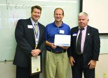 Left to Right: Jim Wendorff (Viracon), Doug Betti (Viracon), Mike Haney (Minnesota Department of Employment and Economic Development)