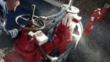 DCDA backflow preventer that suffered freeze damage in the Elsinore Valley Municipal Water District in January 2013