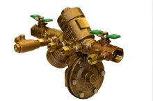 Zurn Freeze Prevention Valve (Model ZWFR) installed on (975XL) Backflow Preventer