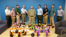 The Bike Builders at Zurn (left to right): Jason Morris, Donald Bissell, Christopher Say, Joe Wcisiak,  Jerry Plachotnik, Seth Brooks, Mike Benesh, Scott Young, Dave Gomo (Frank Mazzarese not pictured)