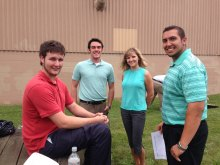 The fundraising events were organized by Zurn interns (l to r): Jack Evans, Will Cole, Yelena Papeko, and Michael Benesh
