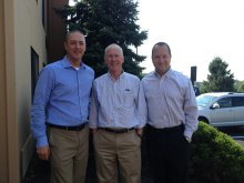 "Zurn GMs prior to being ""buzzed"" (l to r): Scott McDowell, Chris Connors, and Craig Wehr"