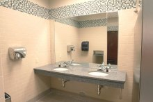 Commercial Building Restroom with lead-free fixtures
