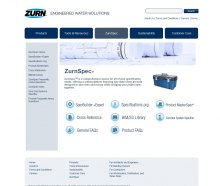 ZurnSpecSM is a new specifications tool from Zurn Industries, LLC