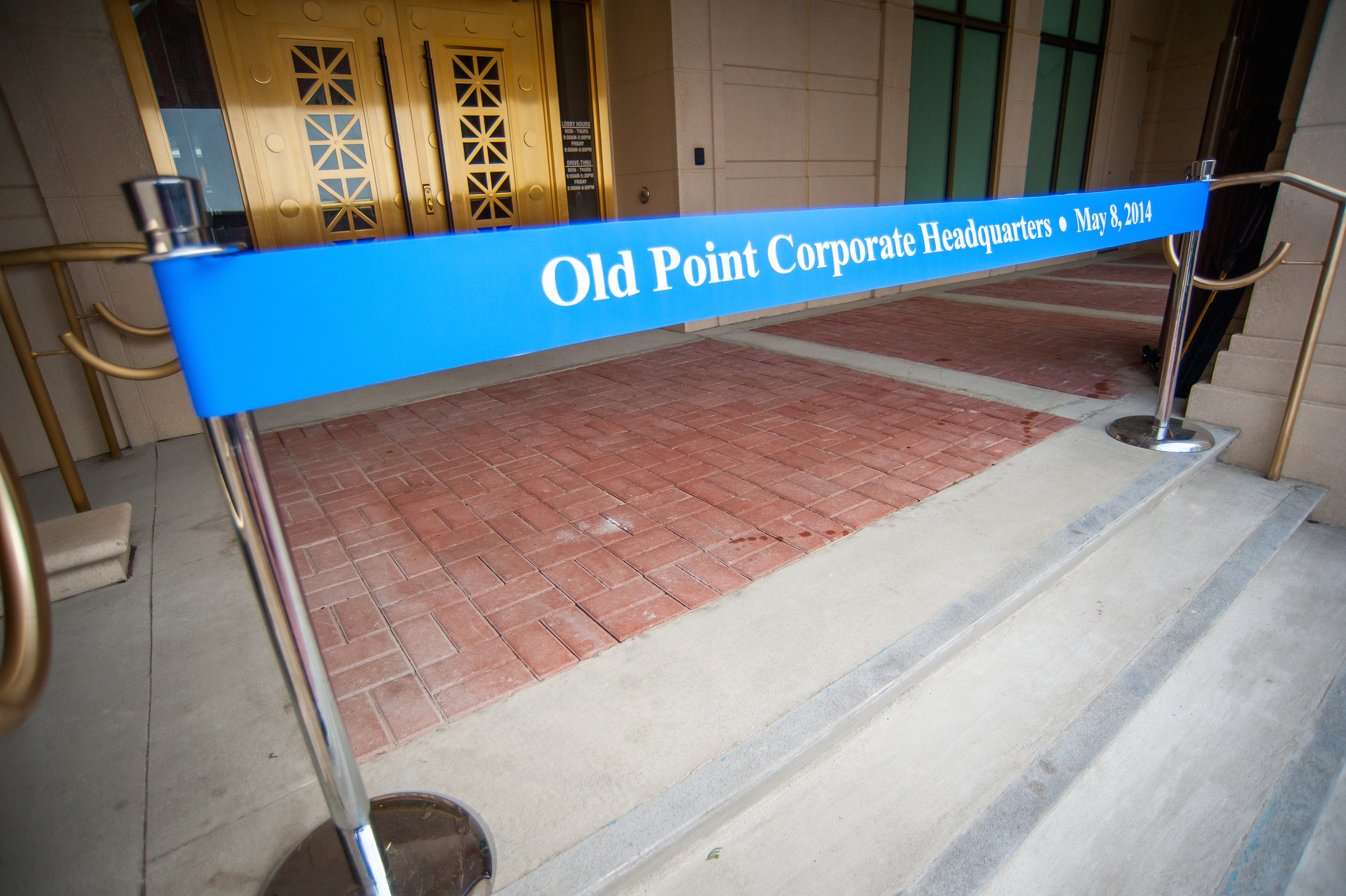 Ellison Outfits Old Point Bank With Custom Balanced Doors Larsono
