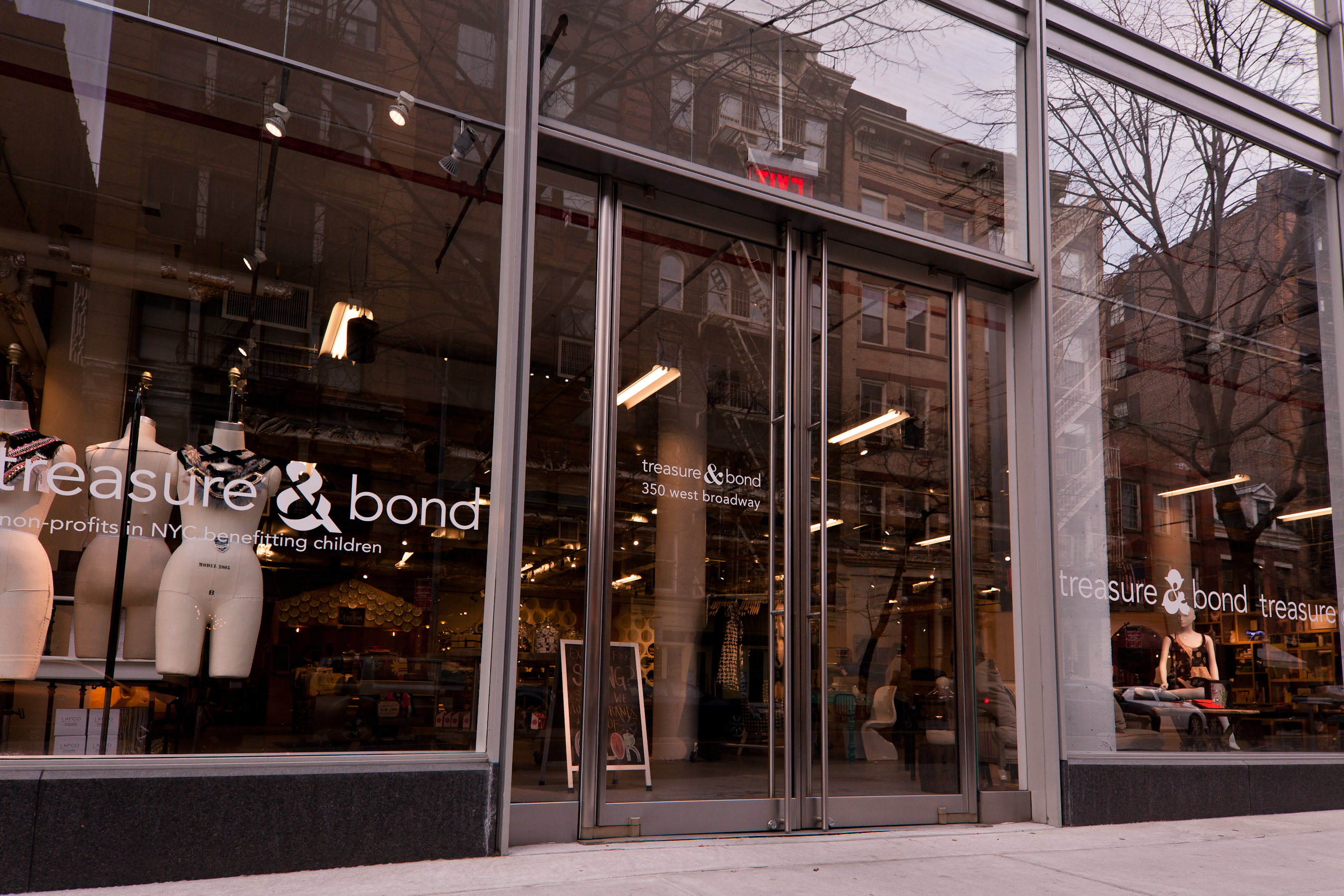 Photo Credit Joe Woolhead - Retail Entrance & Ellison Provides Custom Balanced Doors for 350 W. Broadway NYC ... pezcame.com