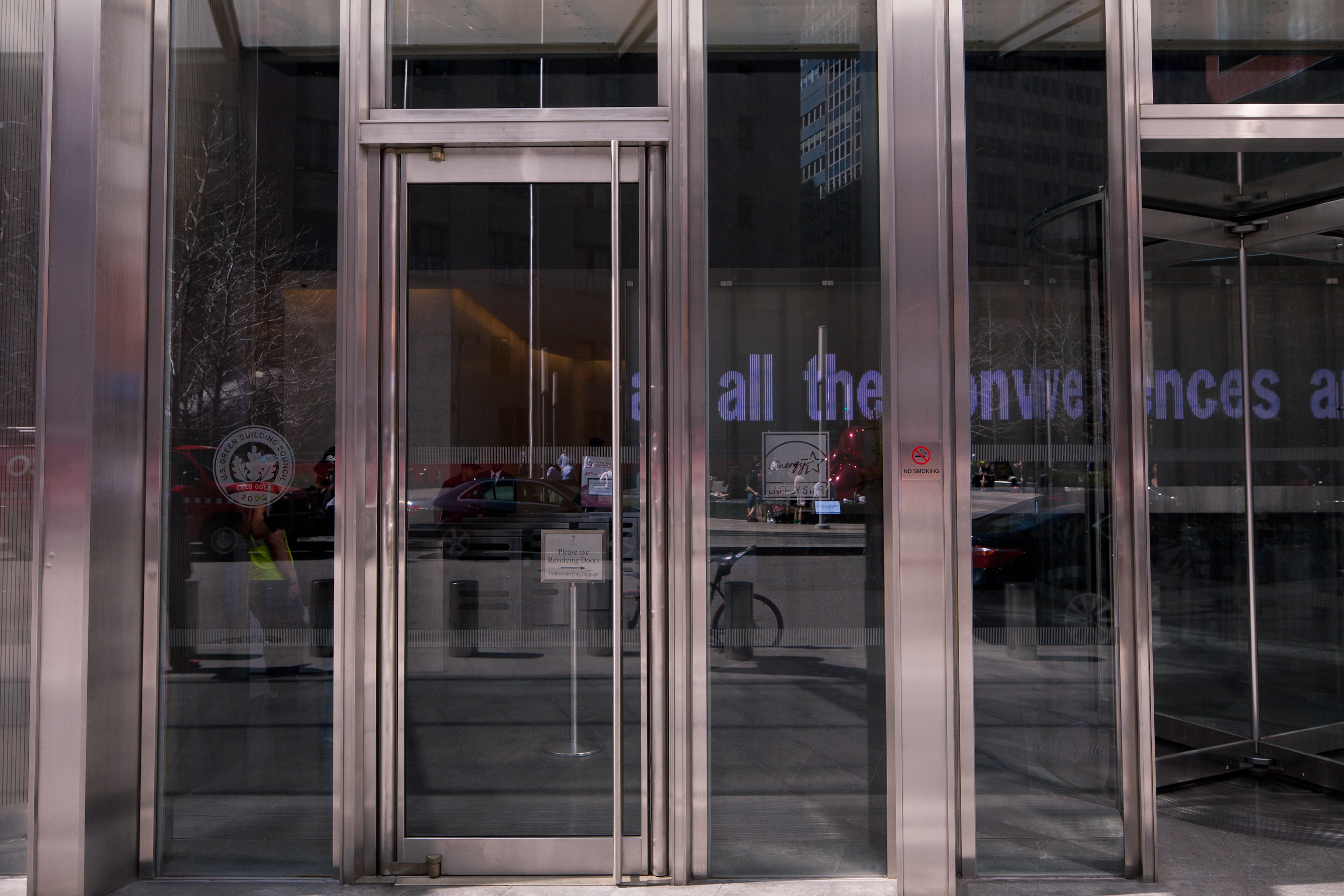 Photo Credit Joe Woolhead - World Trade Center Building 7 & Ellison Bronze Selected To Provide Balanced Entry Door Systems for ...