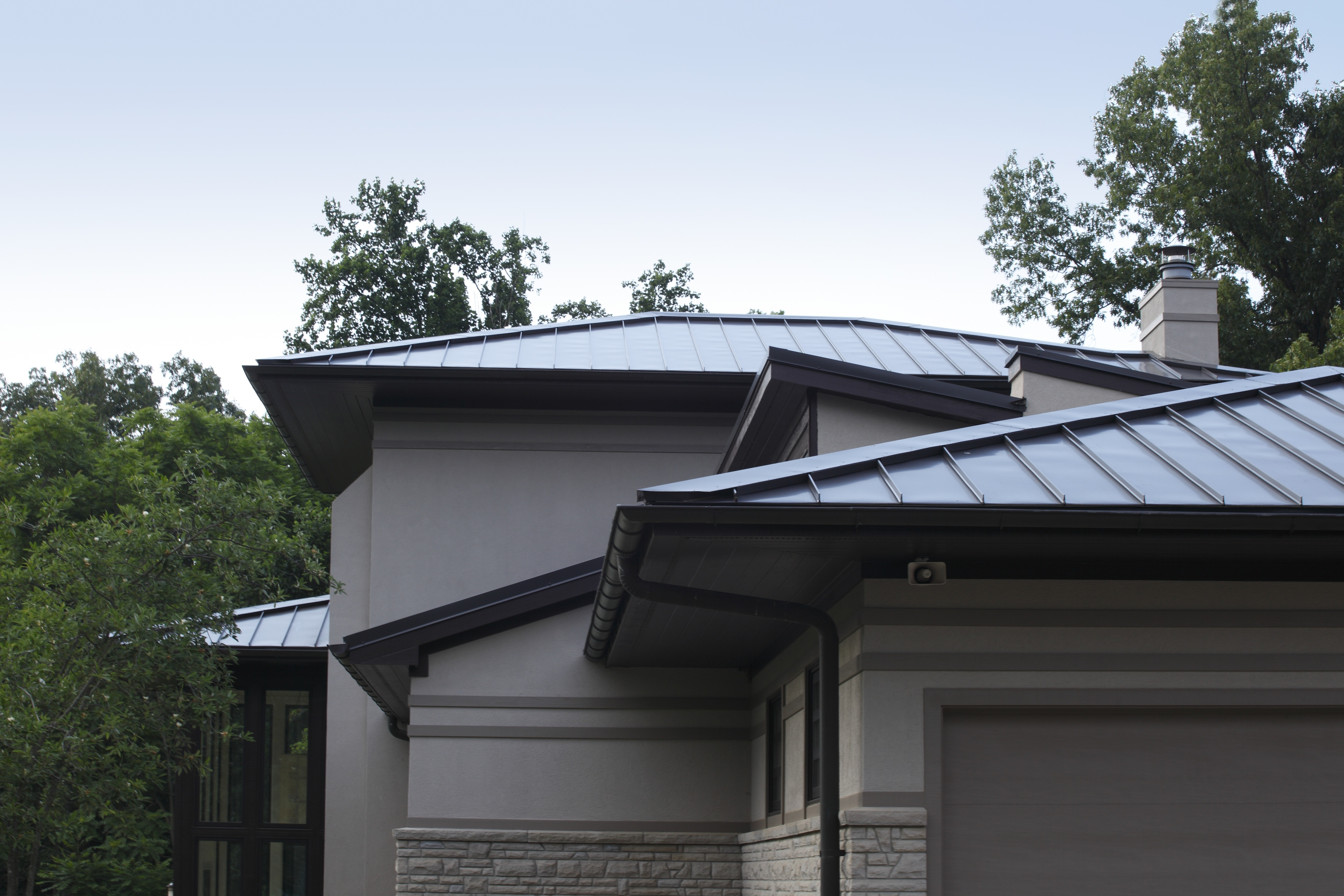 Metal Roof Panels Add Sustainability To High End Residence