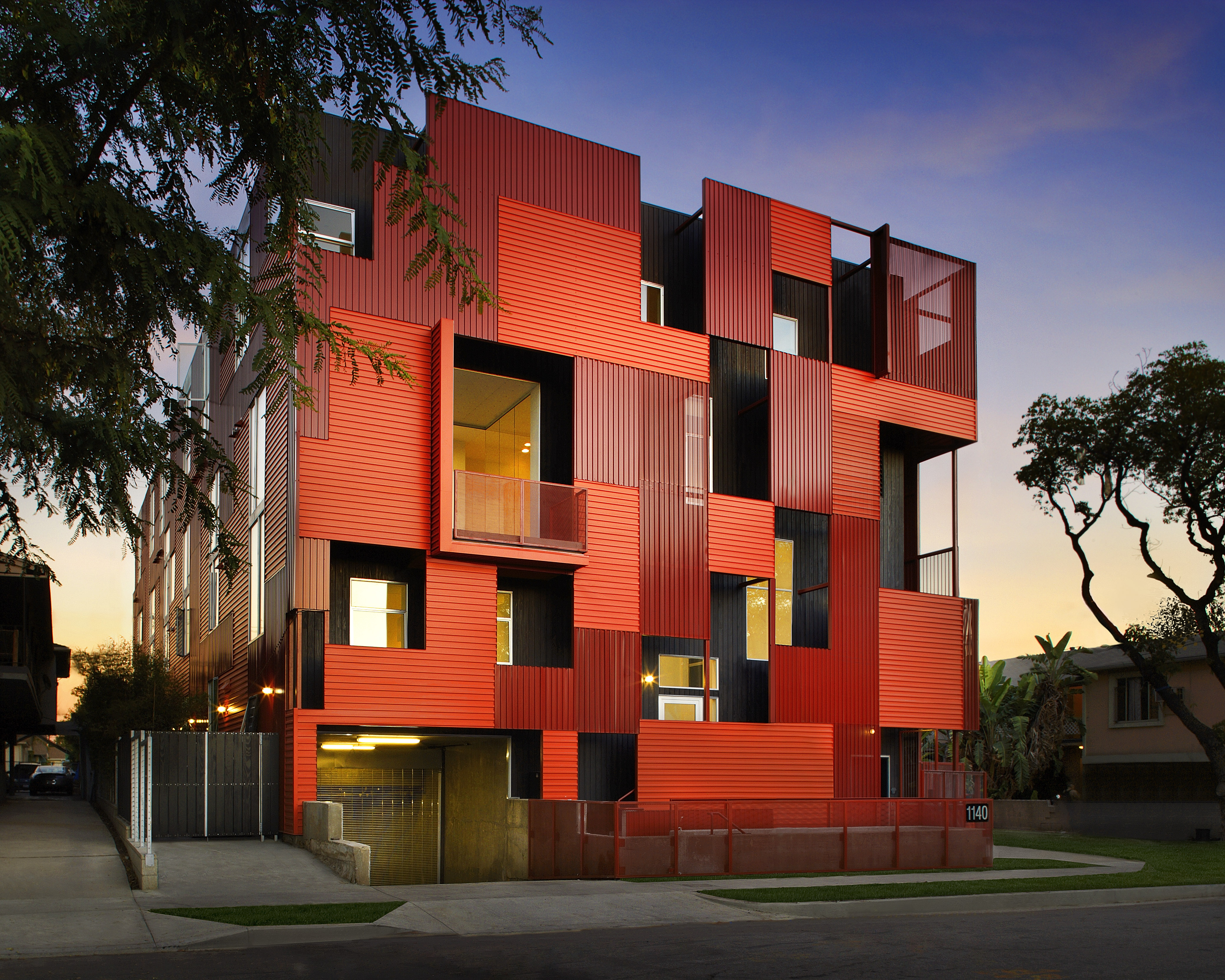 Metal Sales Provides Modern Urban Patchwork Hollywood Housing Unit on Construction General Contractor Logos